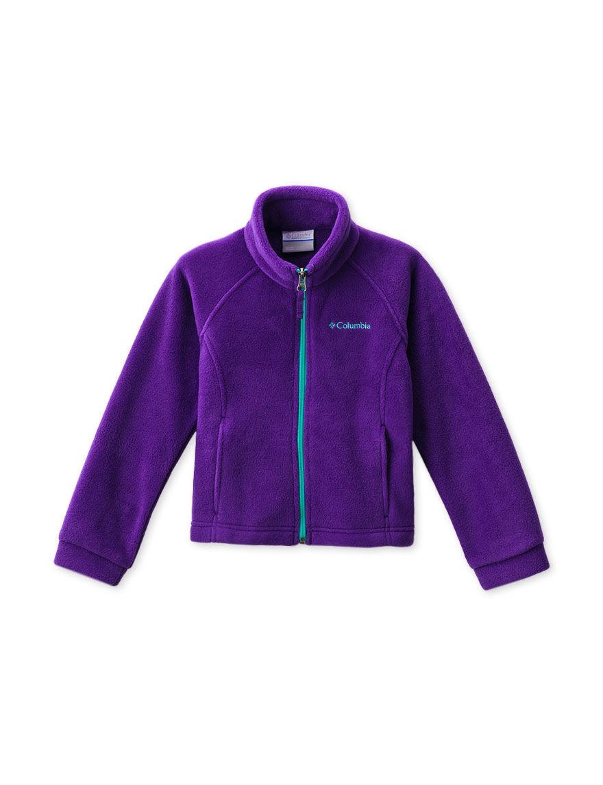 Columbia Purple Fleece & Soft Shell Jackets