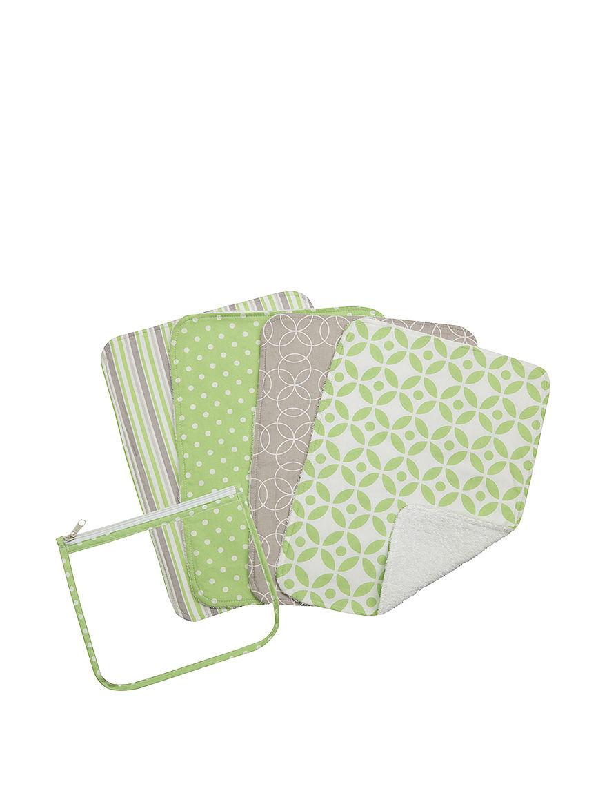 Trend Lab Green Bibs & Burp Cloths