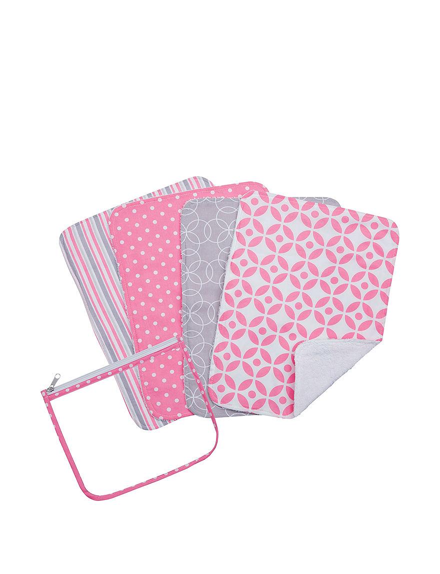 Trend Lab Pink Bibs & Burp Cloths