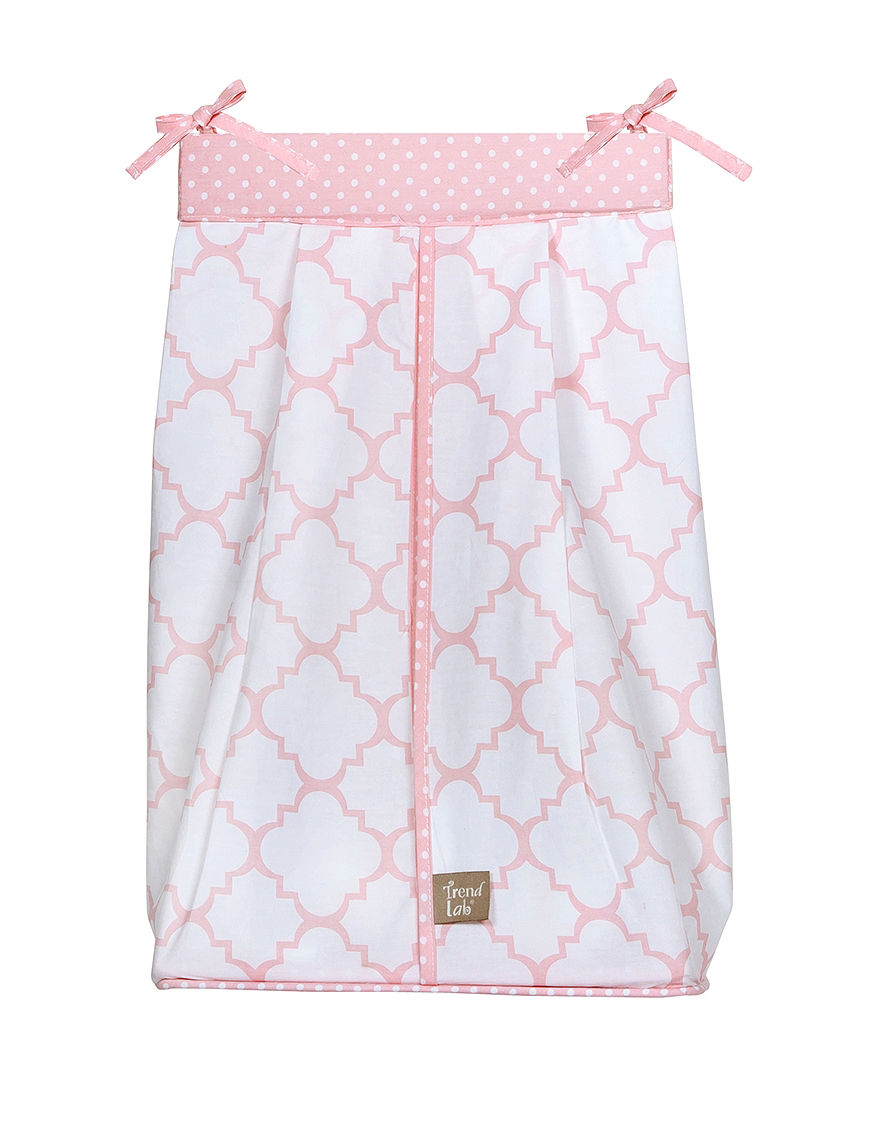 Trend Lab Pink / White Diaper Bags