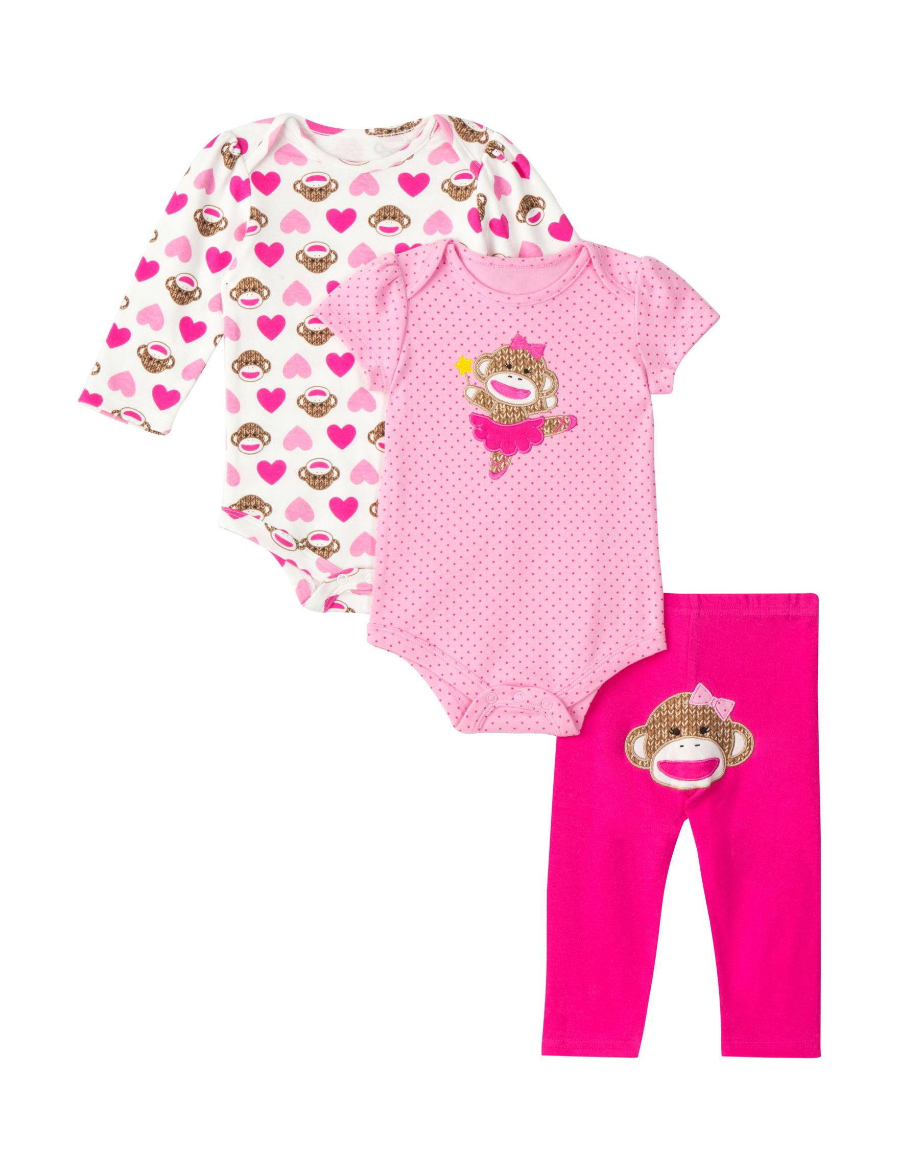 Baby Starters 3 pc Sock Monkey Bodysuit Set – Baby 3 12 Mos