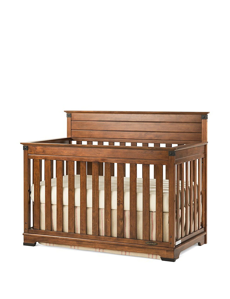 Child Craft Medium Brown Cribs Bedroom Furniture