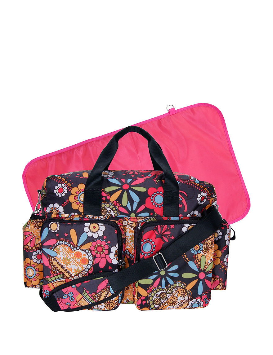 Trend Lab Pink Floral Diaper Bags