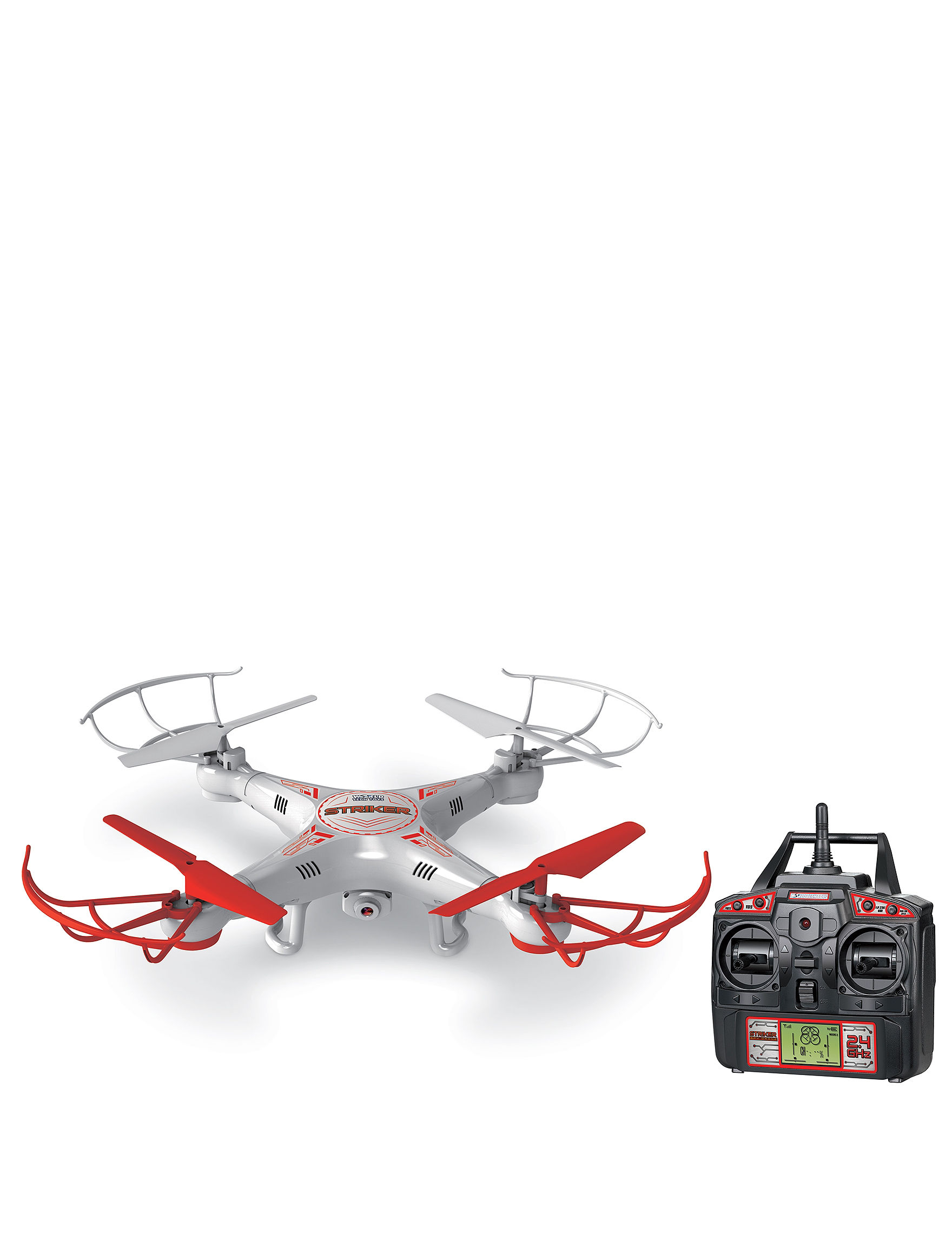 World Tech Toys Striker Drone with Camera - White - World Tech Toys