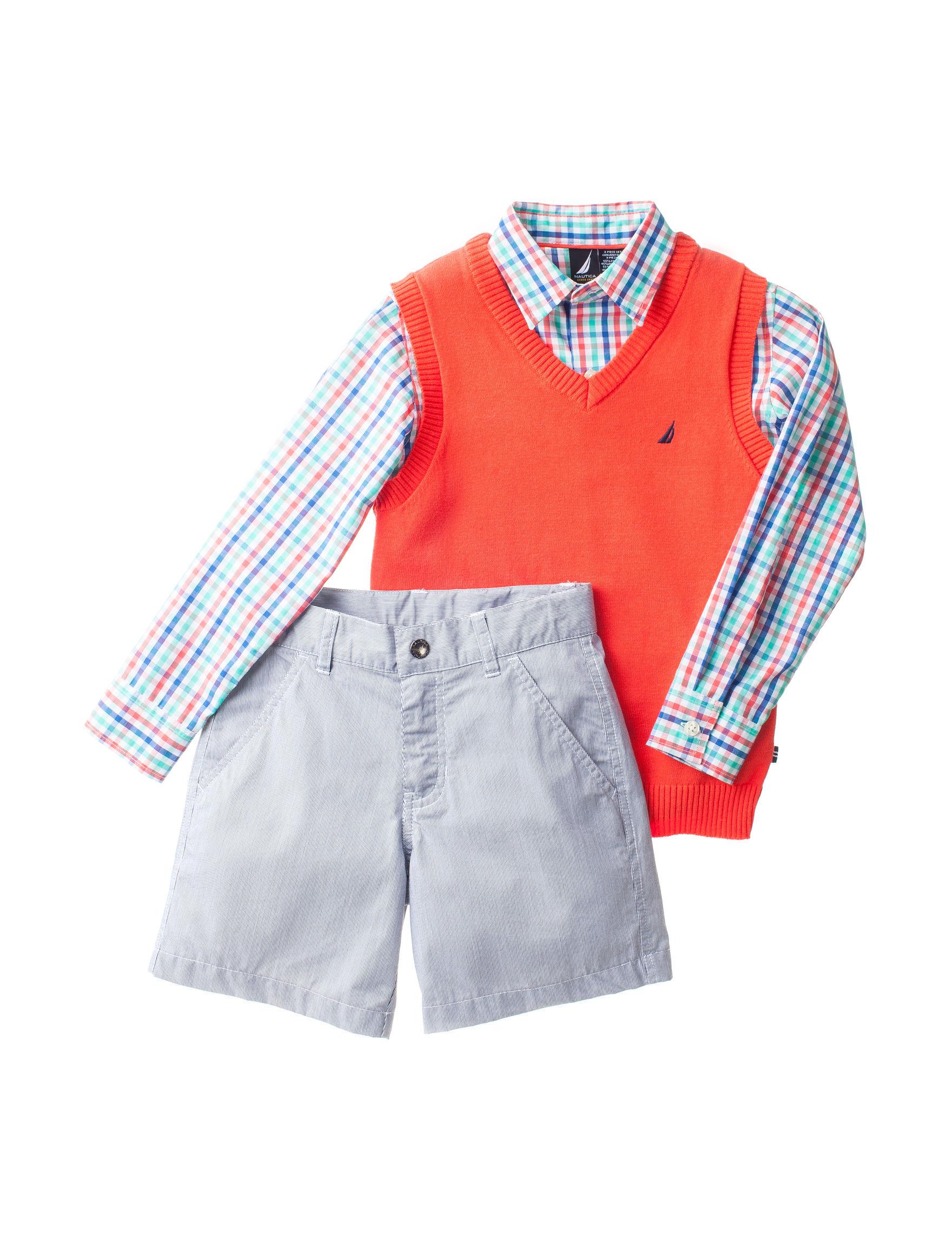 Nautica 3-pc. Sweater Vest & Shorts Set – Boys 4-7 | Stage Stores