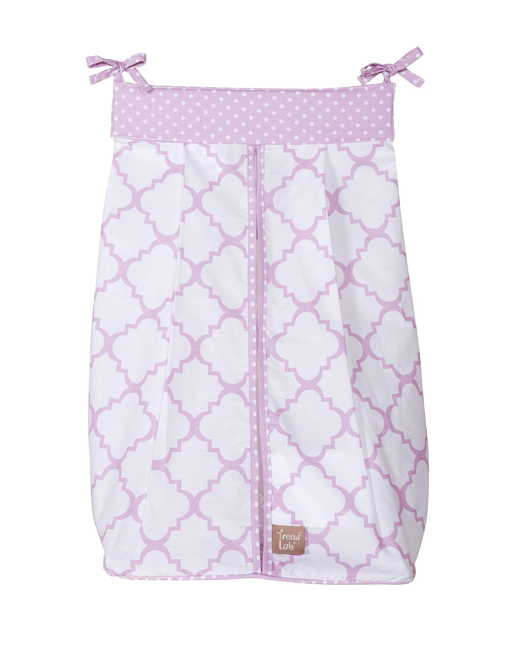Trend Lab Purple / White Diaper Bags