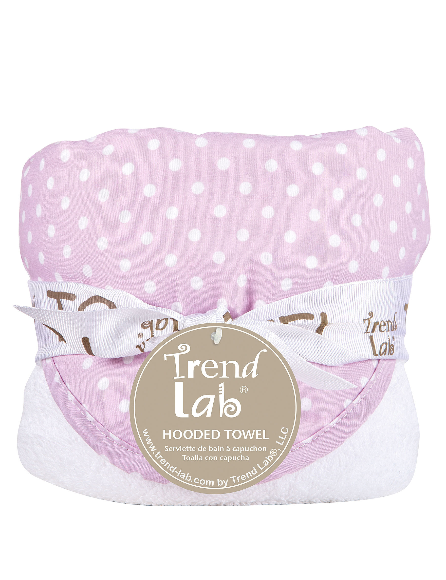 Trend Lab Purple / White Hooded Towels