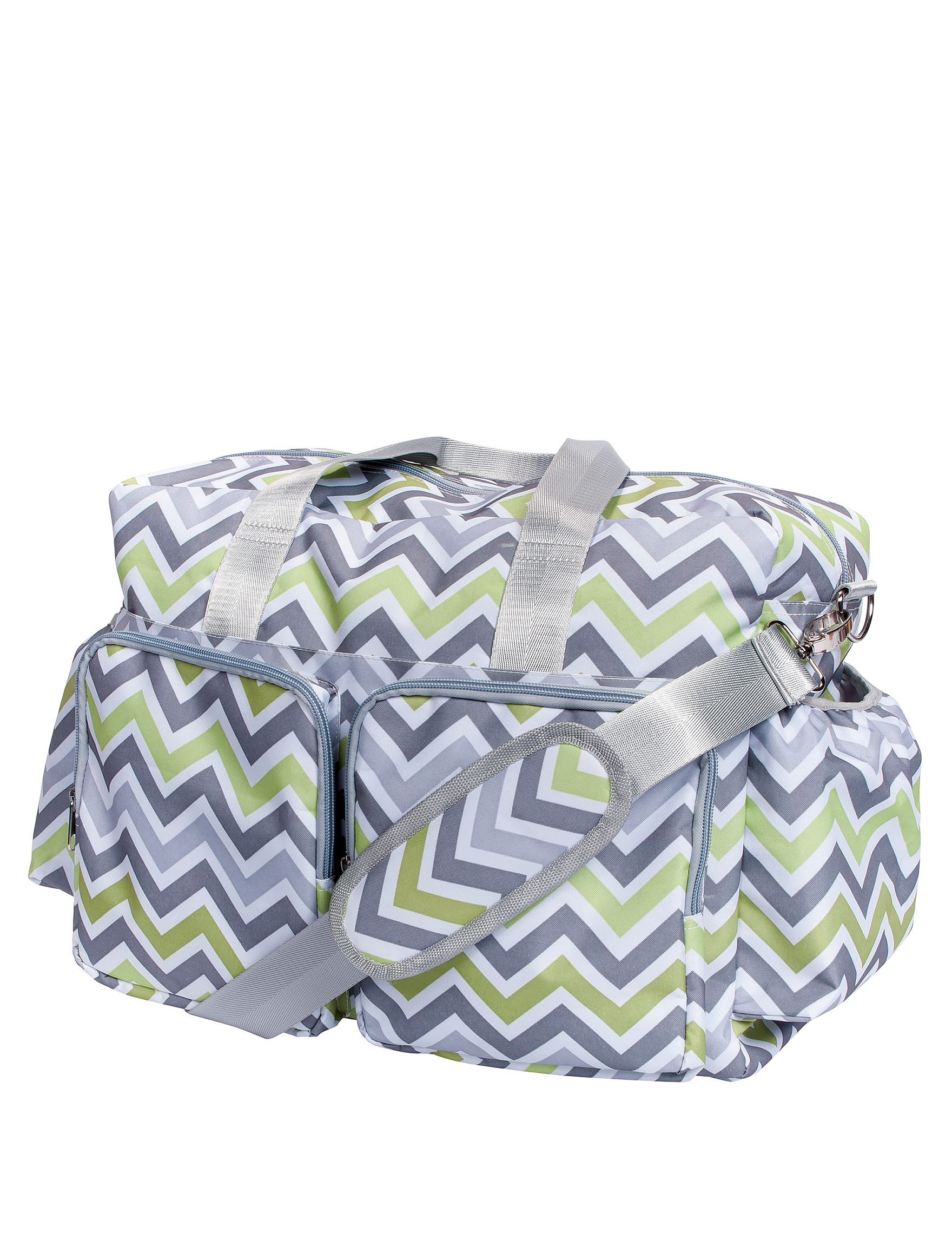 Trend Lab Green/Grey/White Diaper Bags