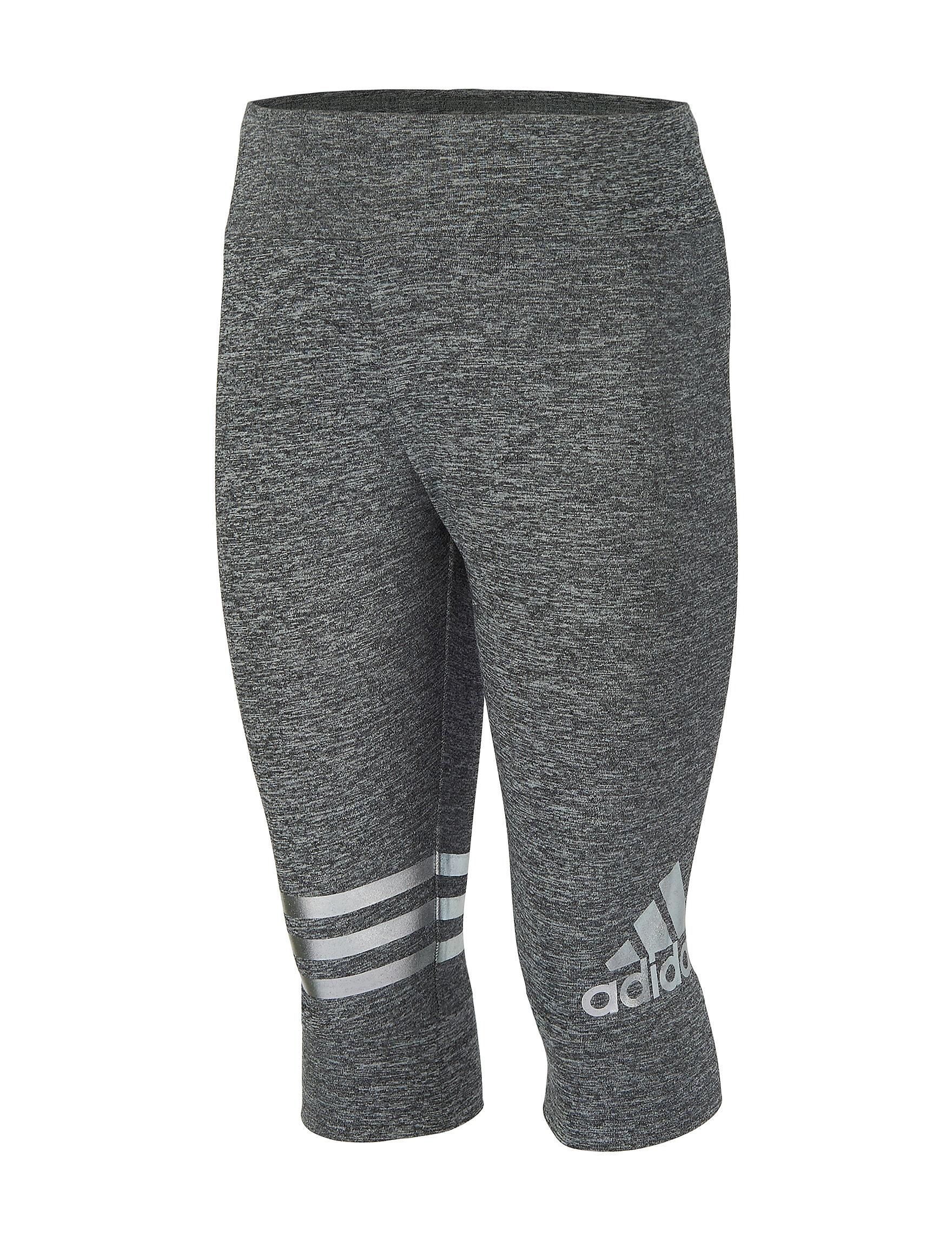 Adidas Dark Grey Capris & Crops