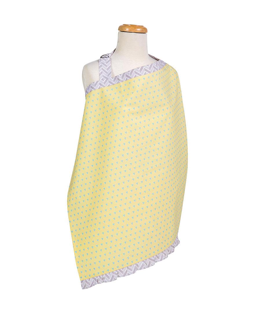Trend Lab Yellow / Blue Bibs & Burp Cloths Breastfeeding