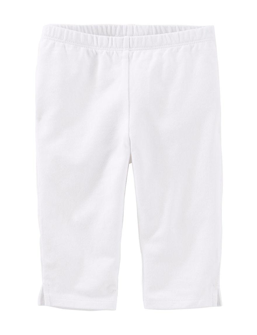 Oshkosh B'Gosh White Capris & Crops Leggings