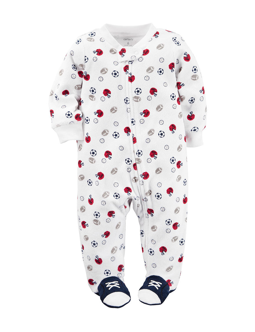 Carters Sports Print Sleep Play Baby 0 9 Mos Stage Stores