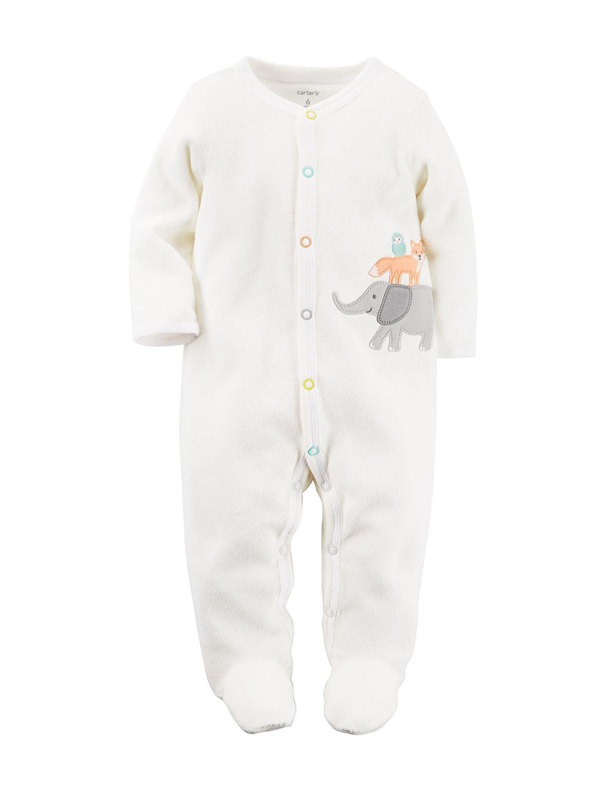 1be5f7fc3 Carter s Ivory Elephant Sleeper Ð Baby 0-9 Mos.