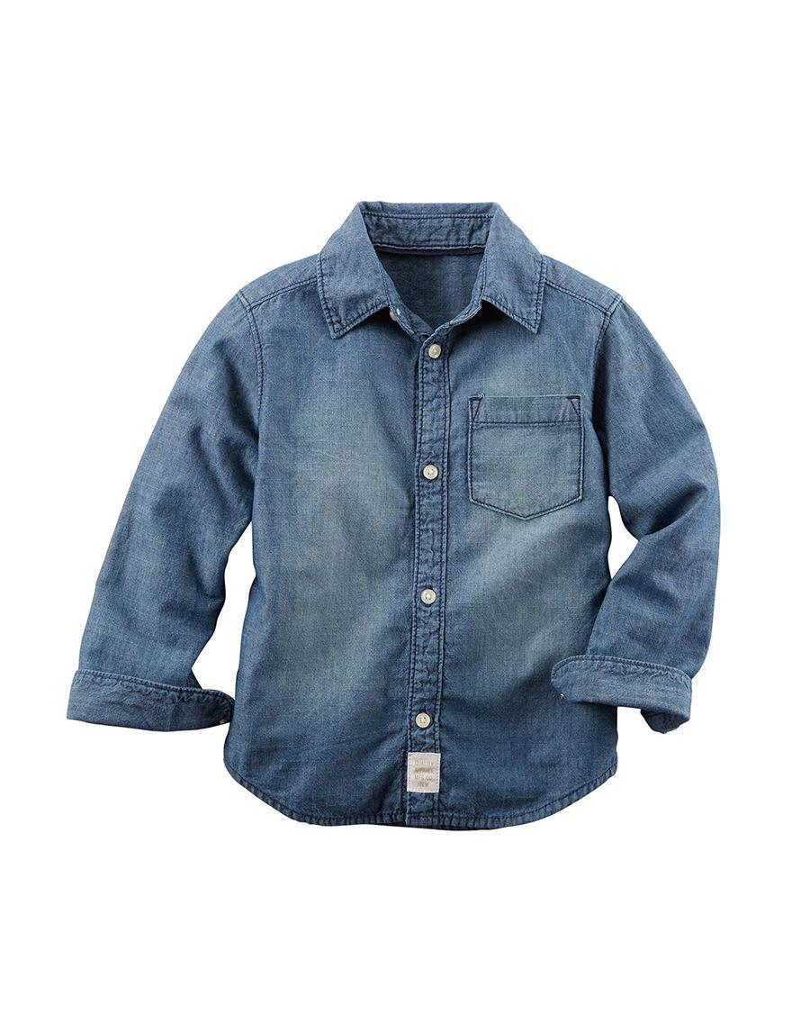 Carter's Denim Casual Button Down Shirts