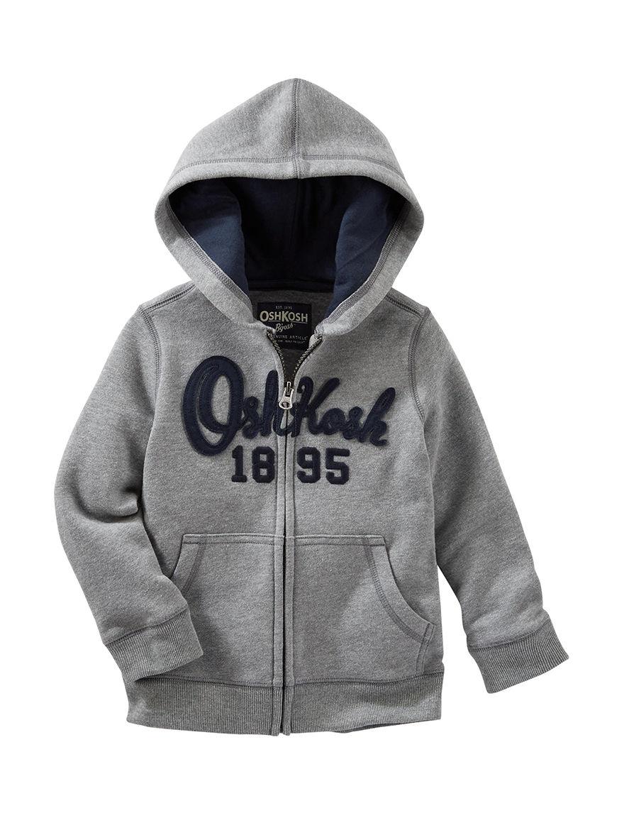 Oshkosh B'Gosh Heather Grey Lightweight Jackets & Blazers