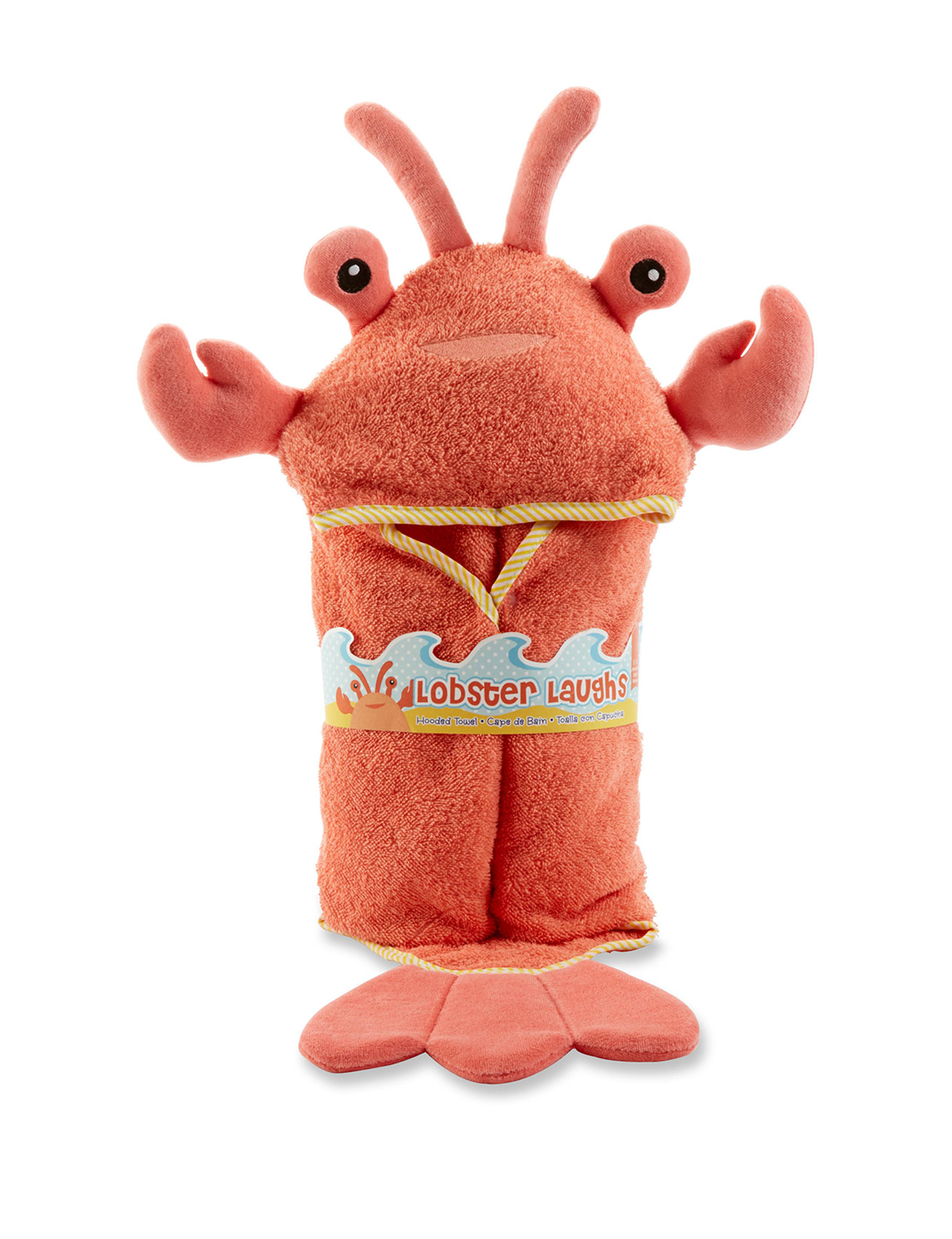 Baby Aspen Coral Hooded Towels