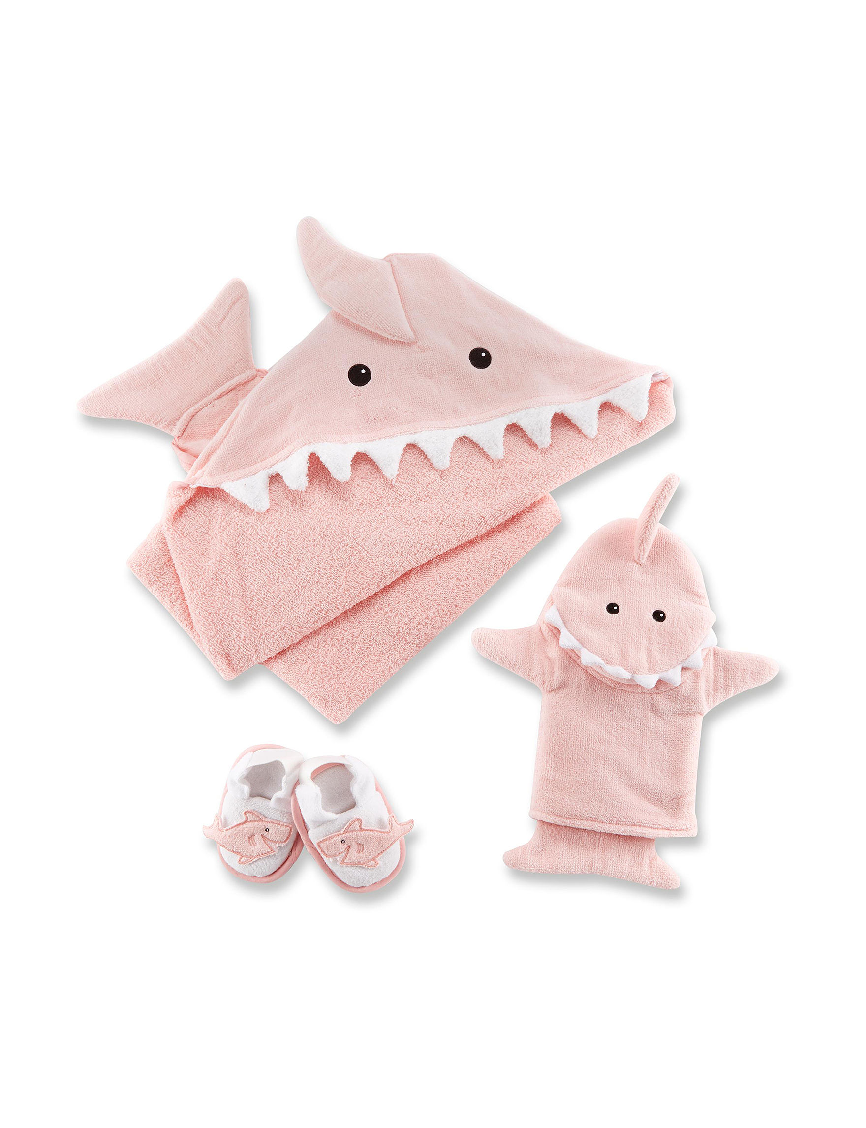 Baby Aspen Pink / White Towels