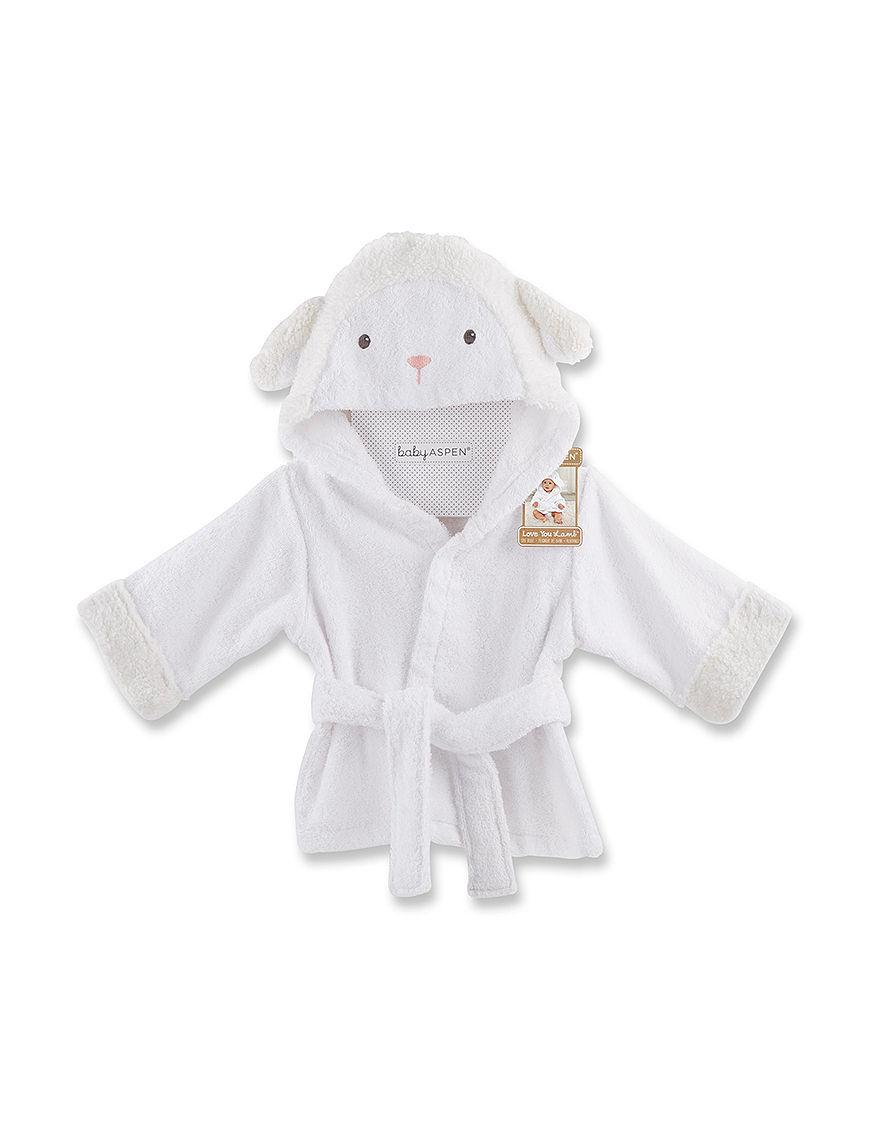 Baby Aspen White Baby Robes