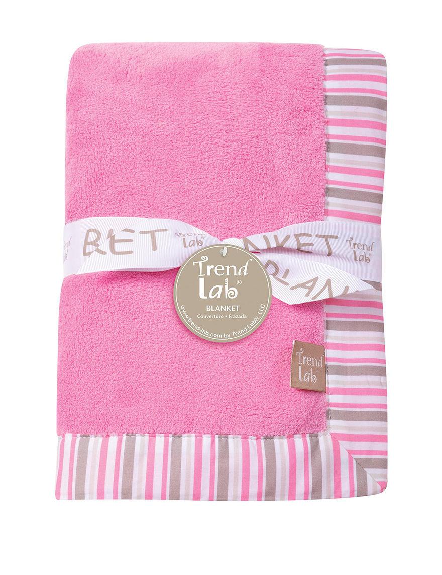 Trend Lab Pink/ White/ Grey