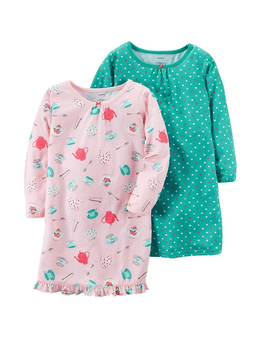 Carter's Print Nightgowns & Sleep Shirts Pajama Tops