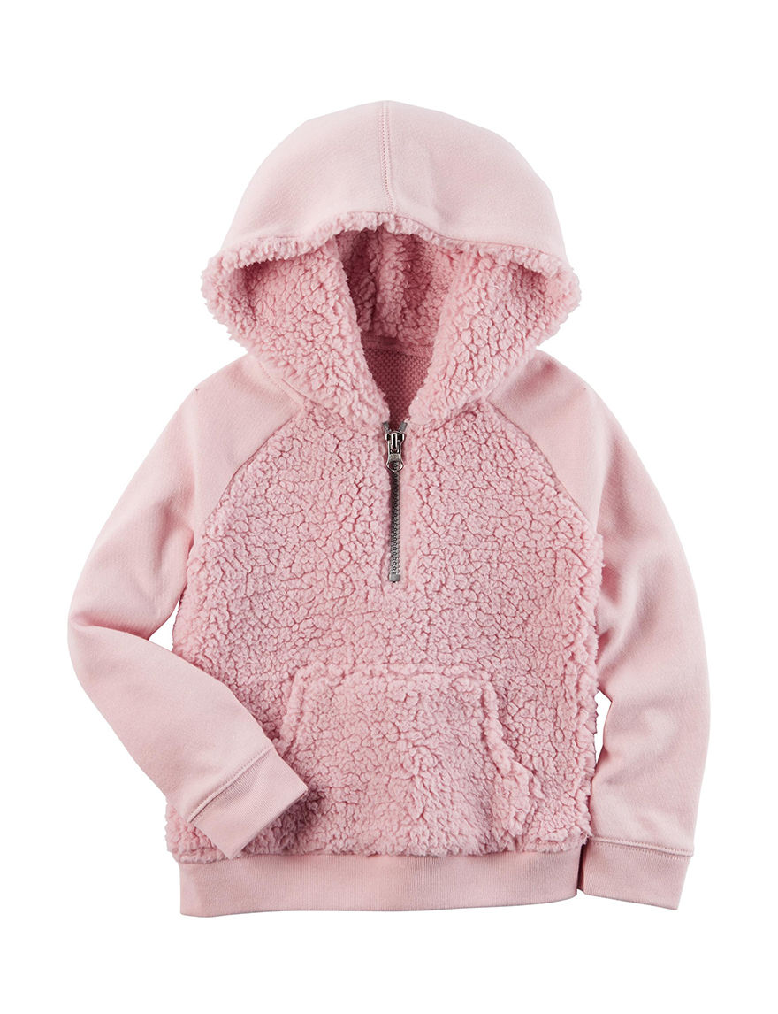 Carters® Pink Sherpa Hoodie - Girls 4-8 | Stage Stores