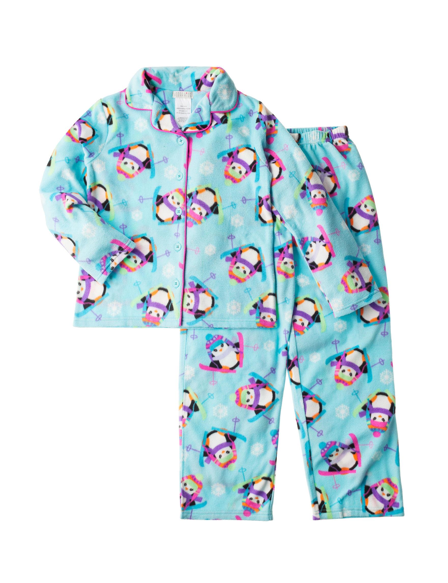 Komar Kids Teal Pajama Sets