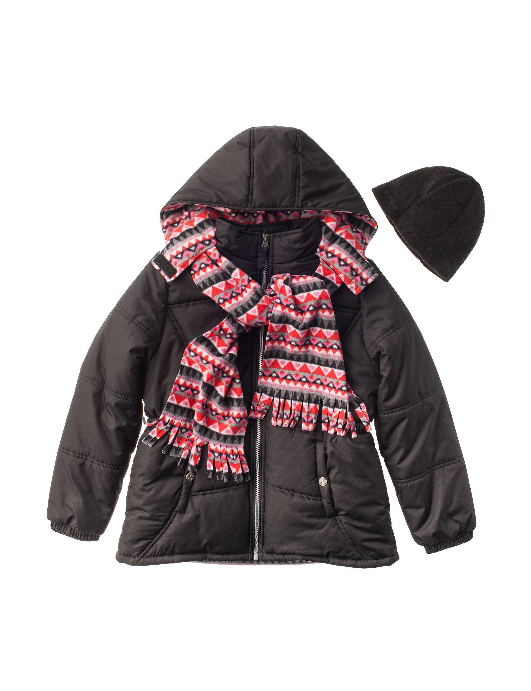 I Apparel Black Fleece & Soft Shell Jackets