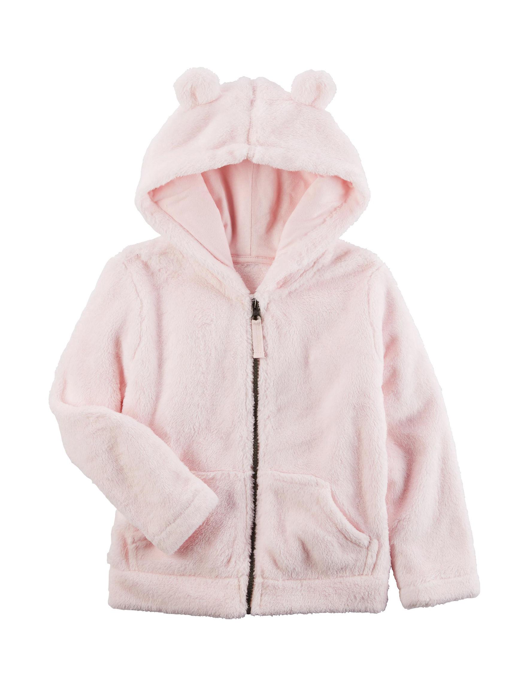 Carter's Light Pink Fleece & Soft Shell Jackets