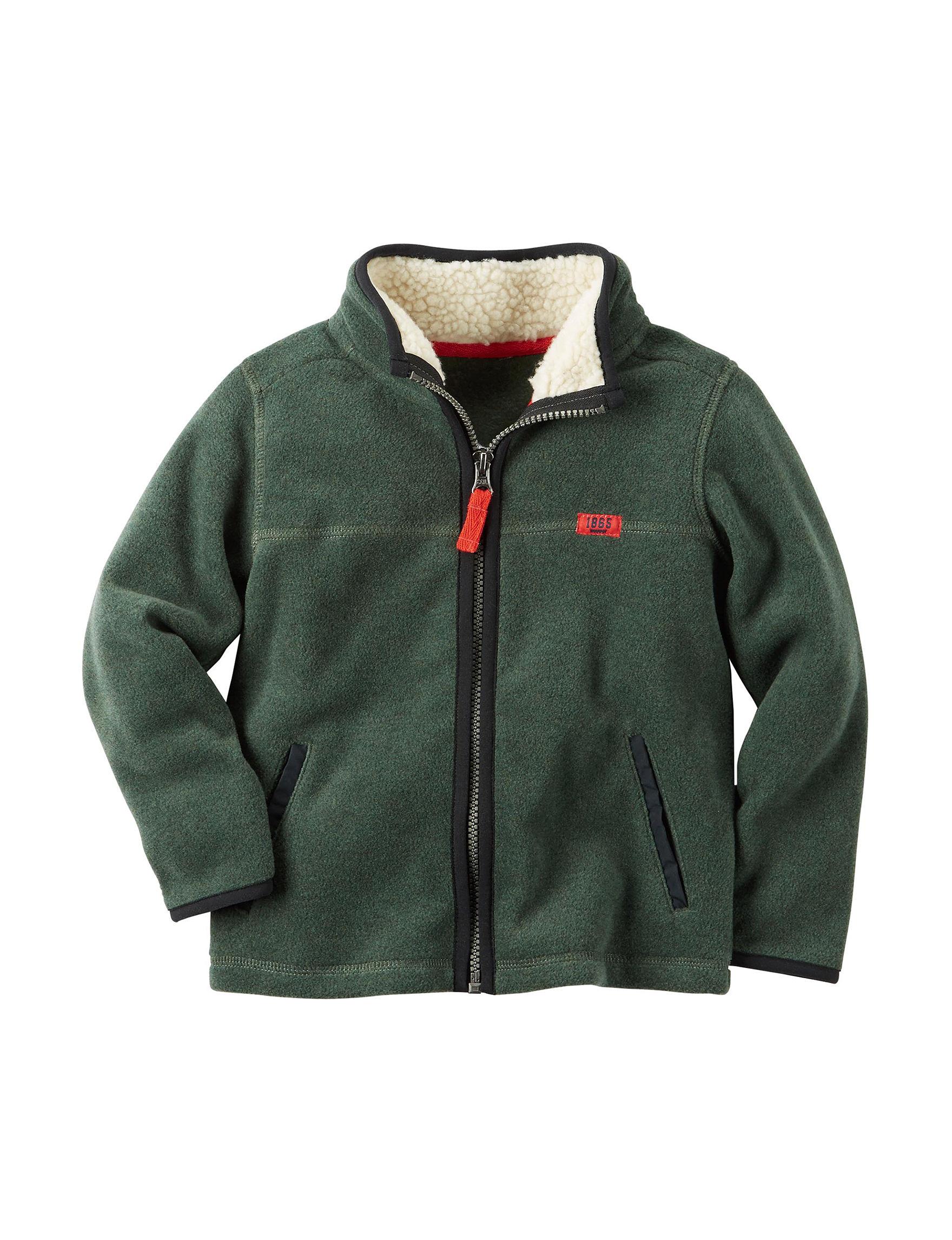 Carter's Green Fleece & Soft Shell Jackets