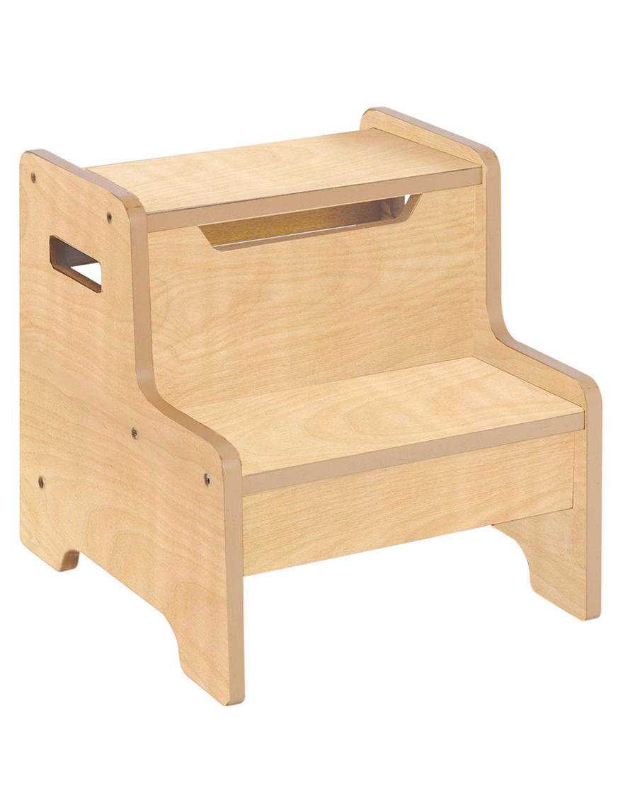 Guidecraft Expressions Step Stool Natural Stage Stores