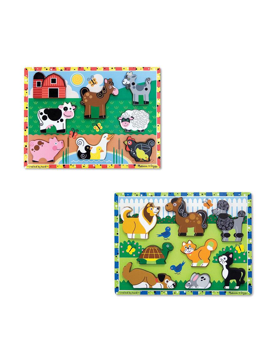 Melissa & Doug Multi Puzzles Game Room