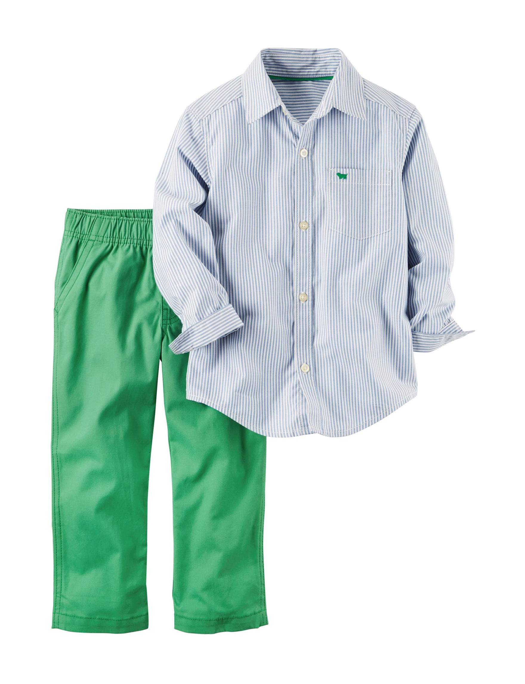 Carter\'s 2-pc. Shirt & Green Pants Set - Toddler Boys | Stage Stores