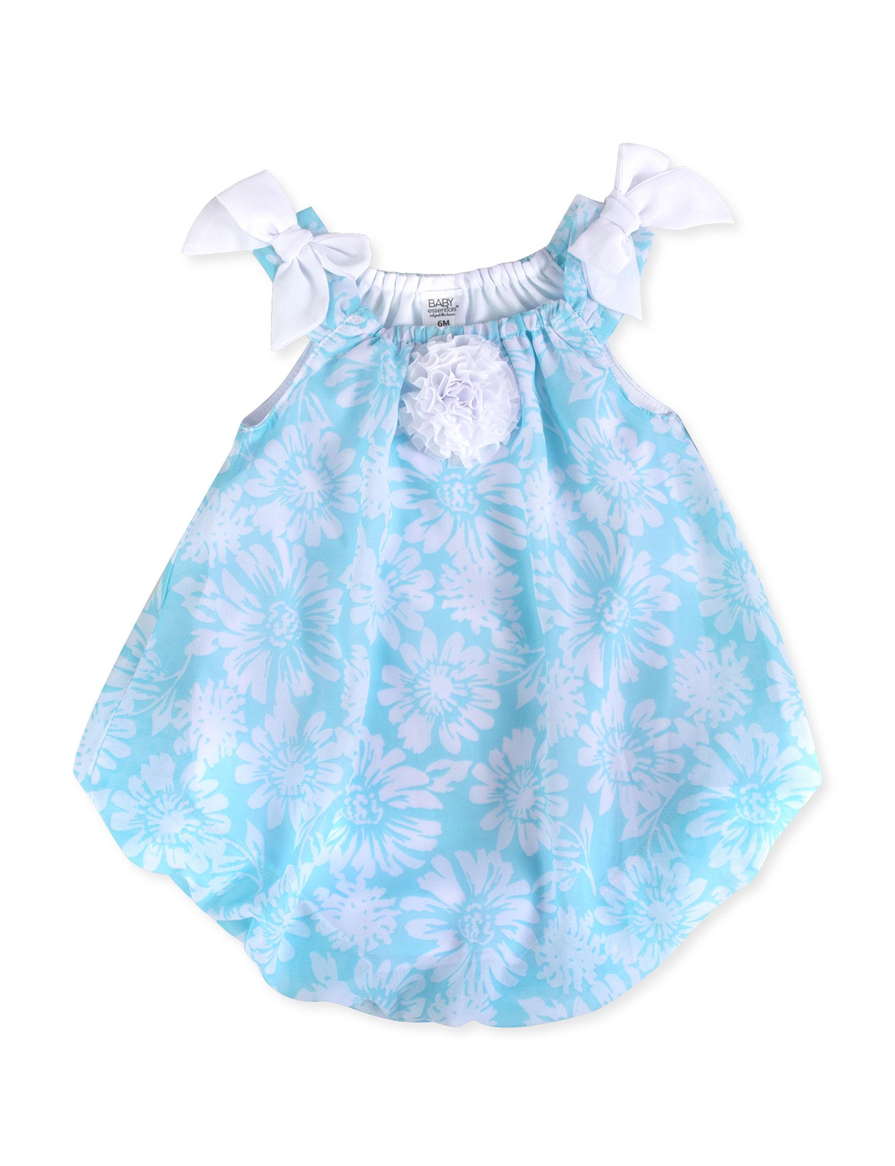 Baby Essentials Aqua / White