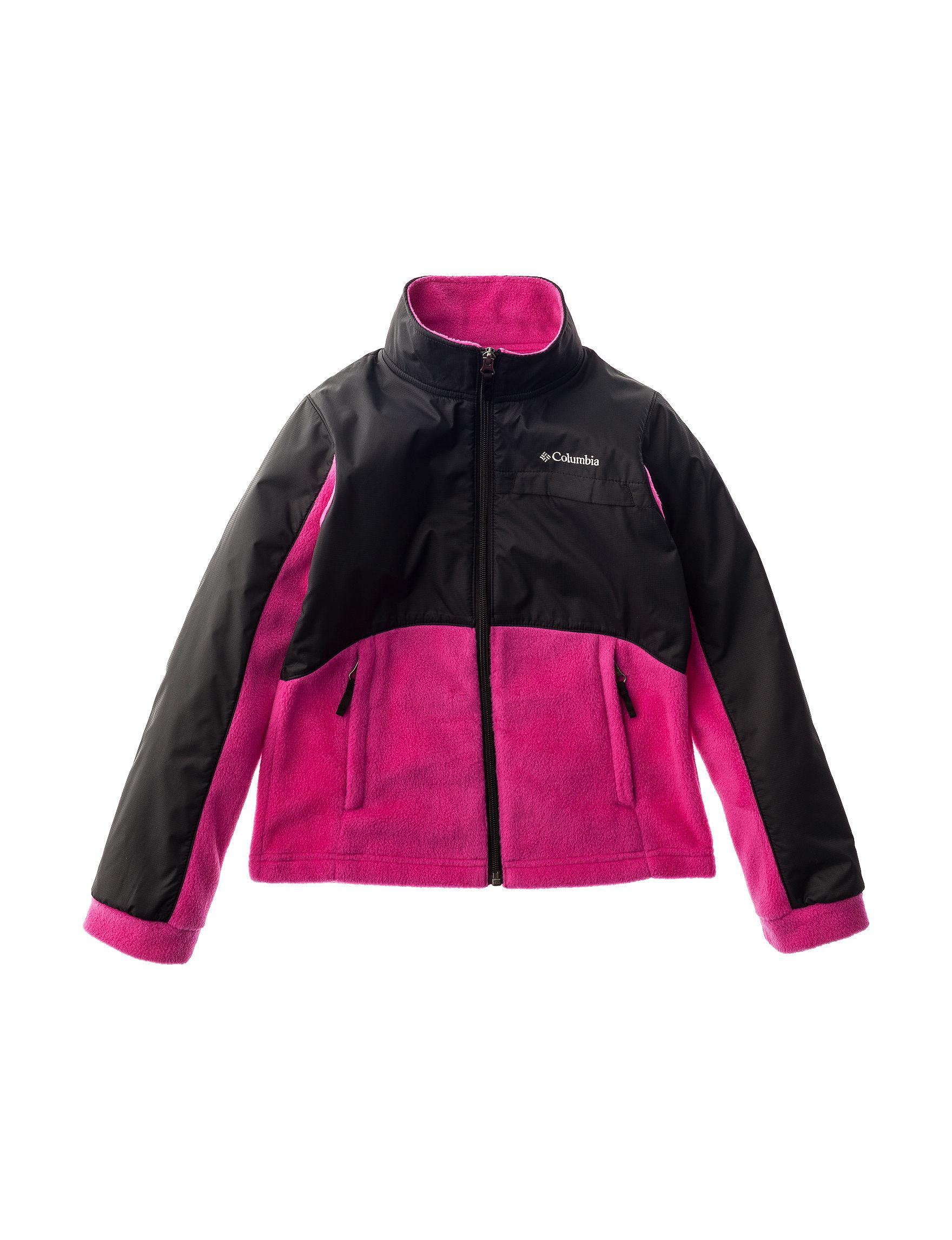 Columbia Pink Fleece & Soft Shell Jackets Lightweight Jackets & Blazers
