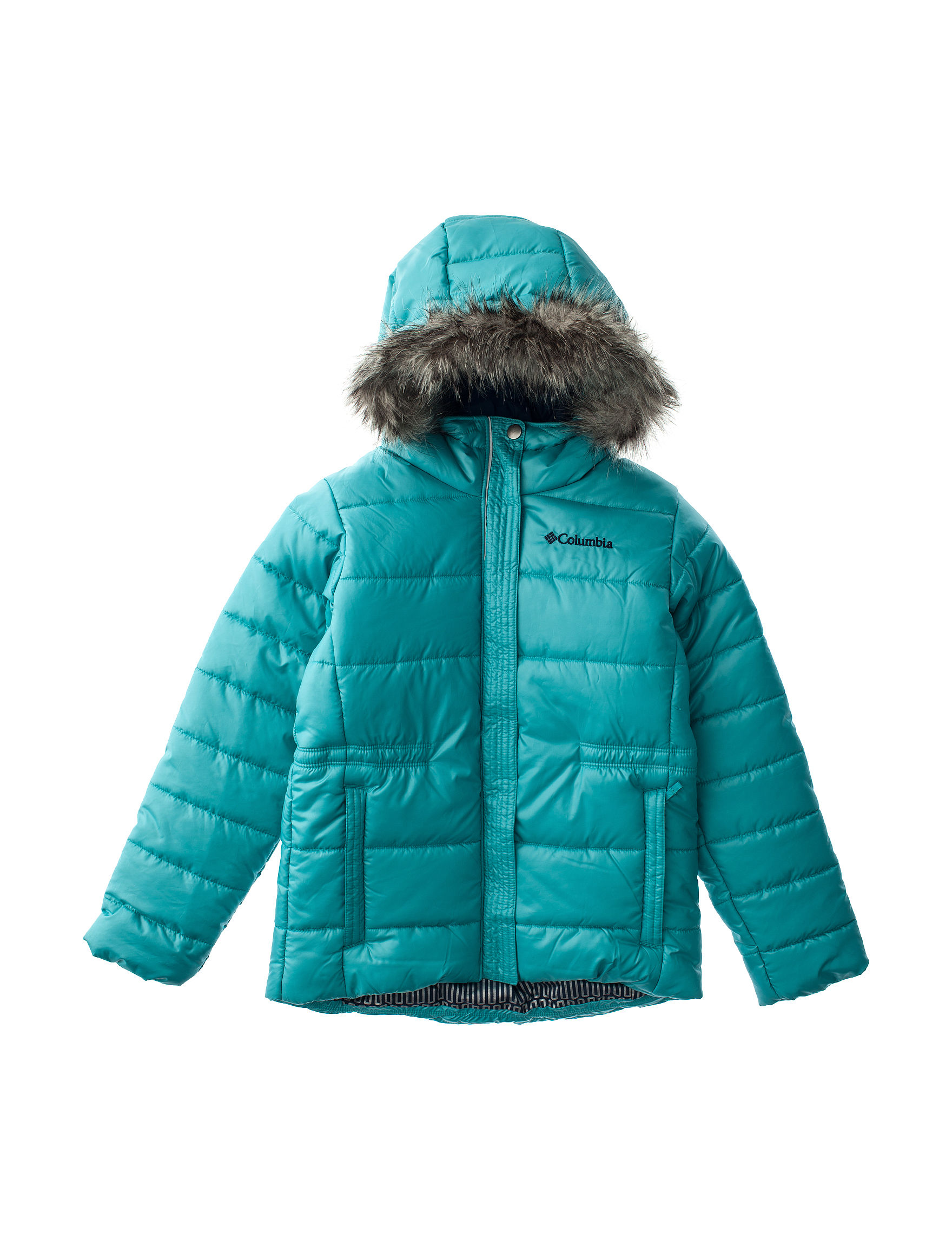 Columbia Blue Puffer & Quilted Jackets