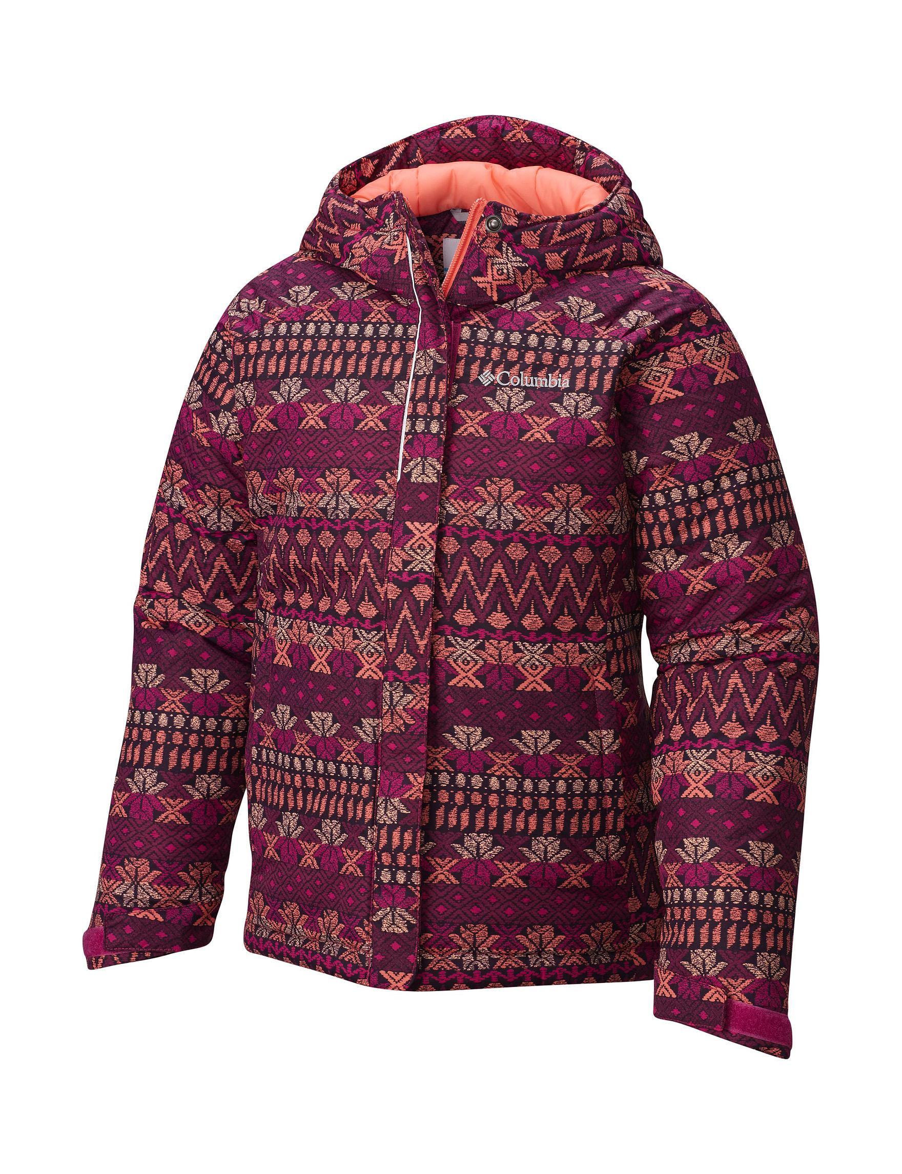 Columbia Purple Multi Fleece & Soft Shell Jackets