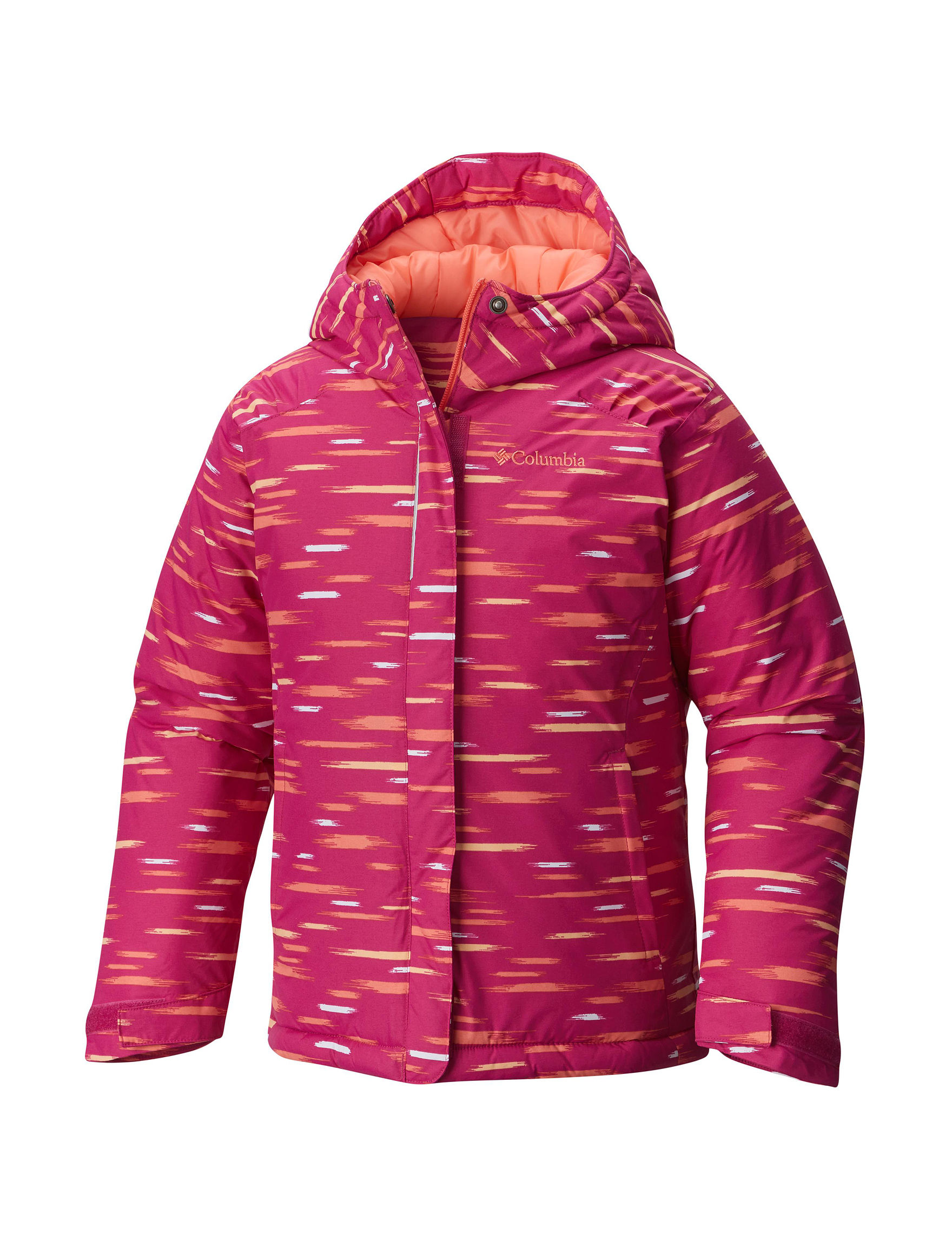 Columbia Pink Multi Fleece & Soft Shell Jackets