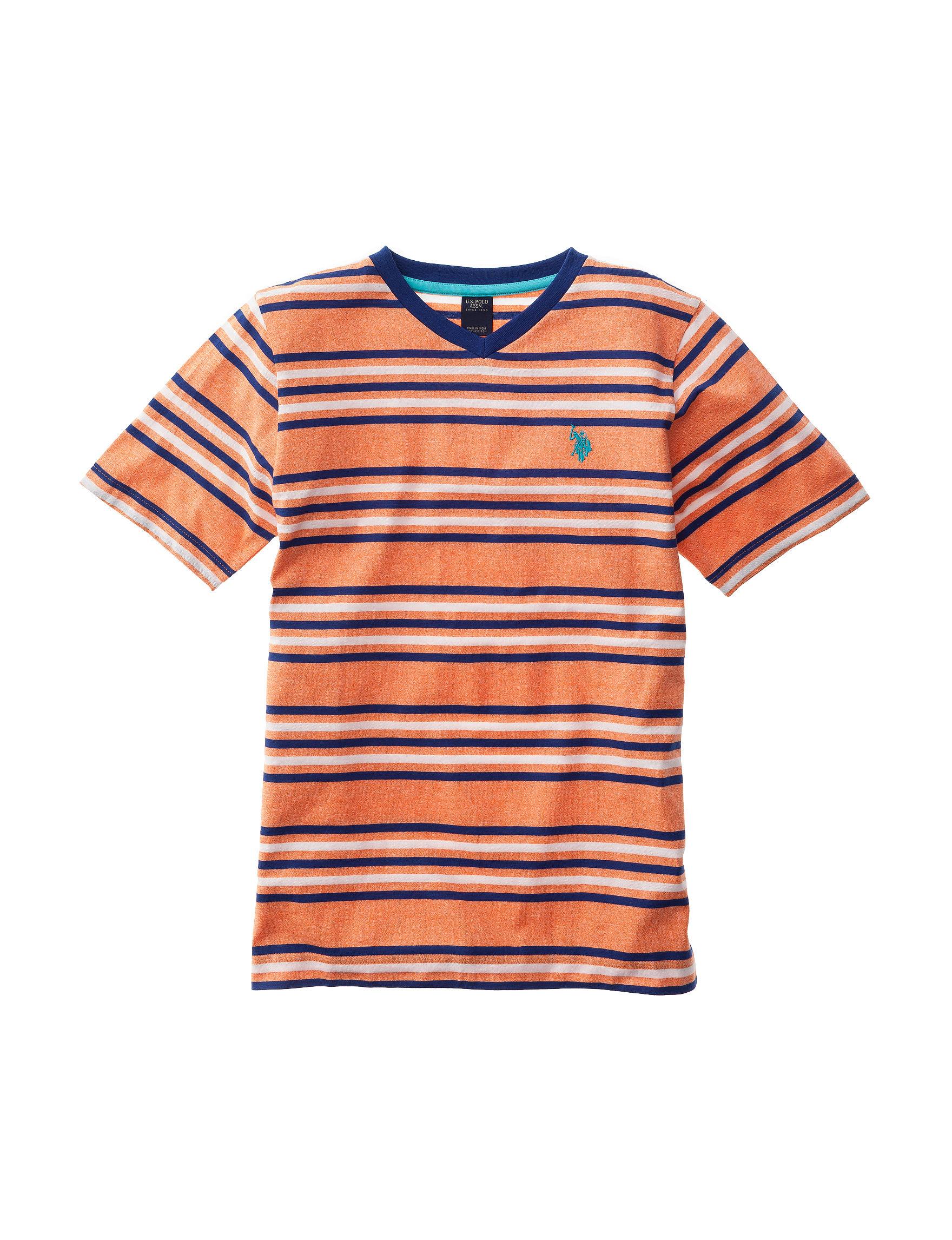 U.S. Polo Assn. Bright Orange Tees & Tanks