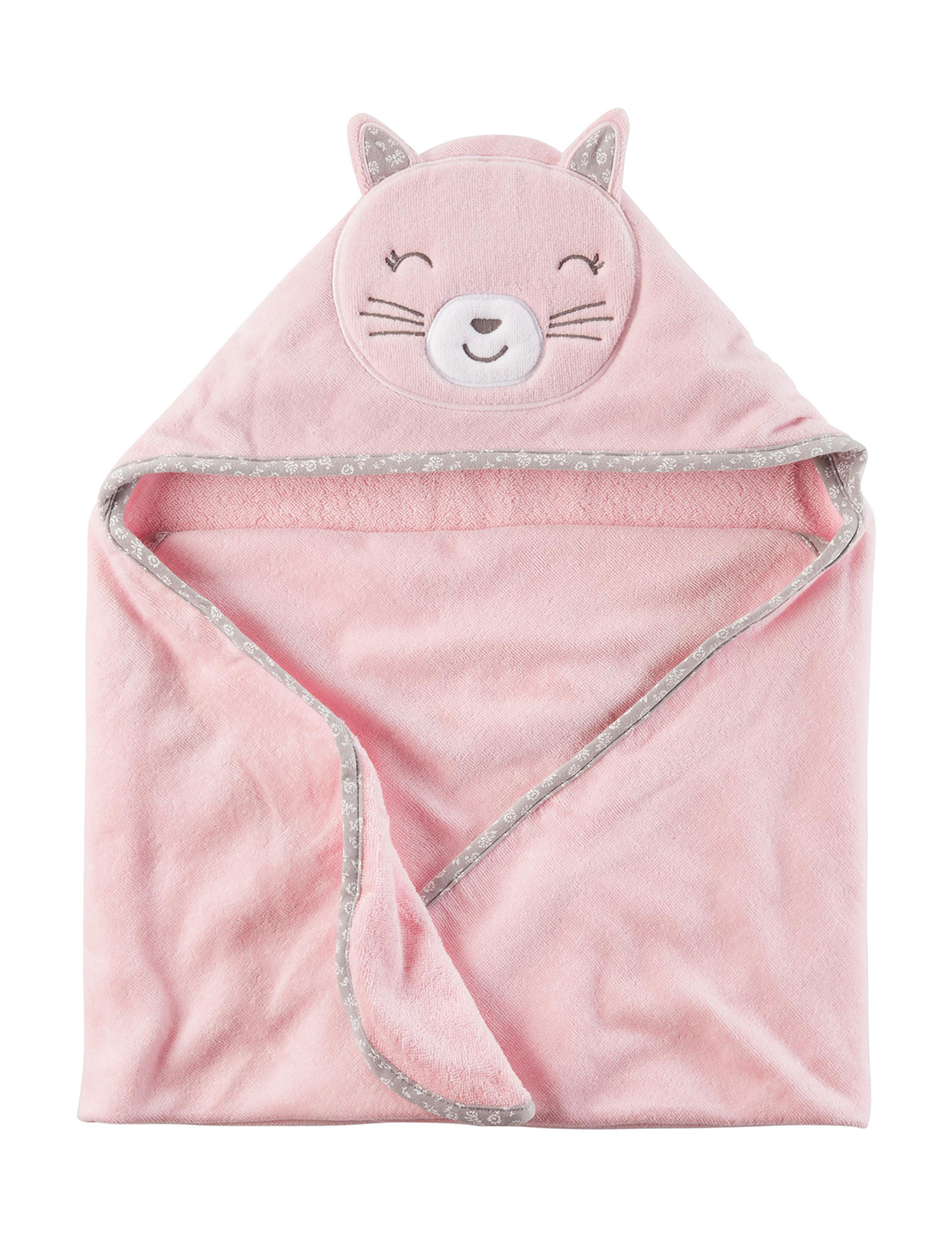 Carter's Pink Hooded Towels