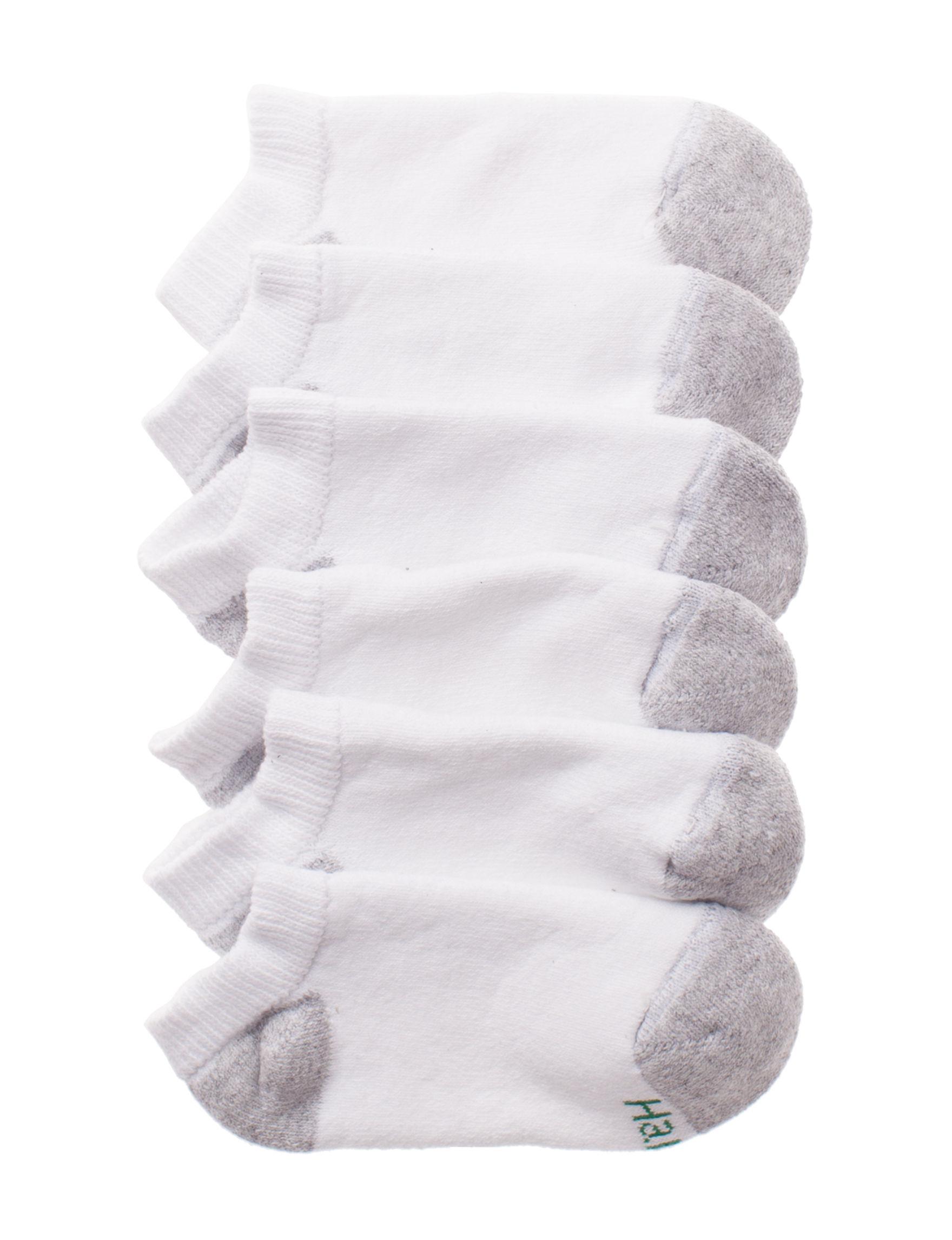 Hanes White Socks