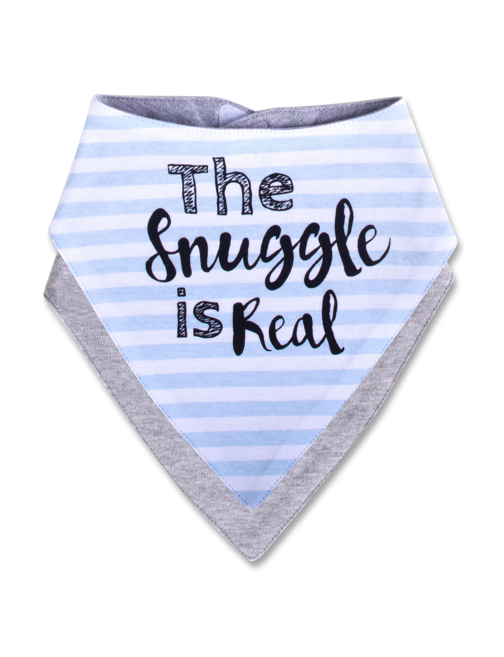 Baby Essentials Blue Bibs & Burp Cloths