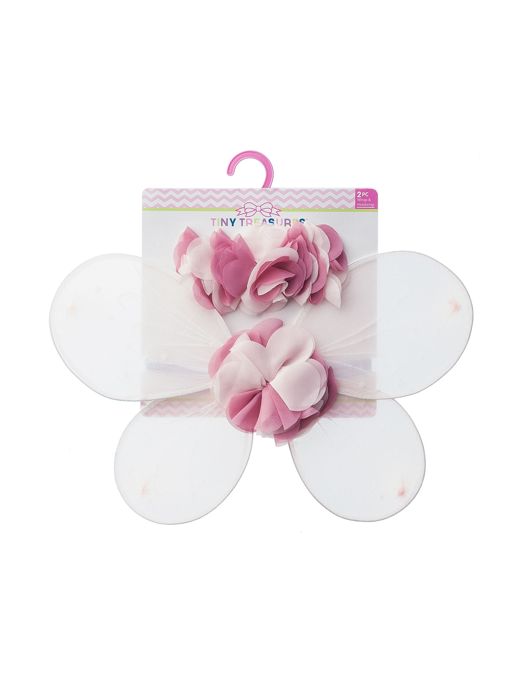 Tiny Treasures 2 Pc Pink Floral Wings Headwrap Set Stage Stores