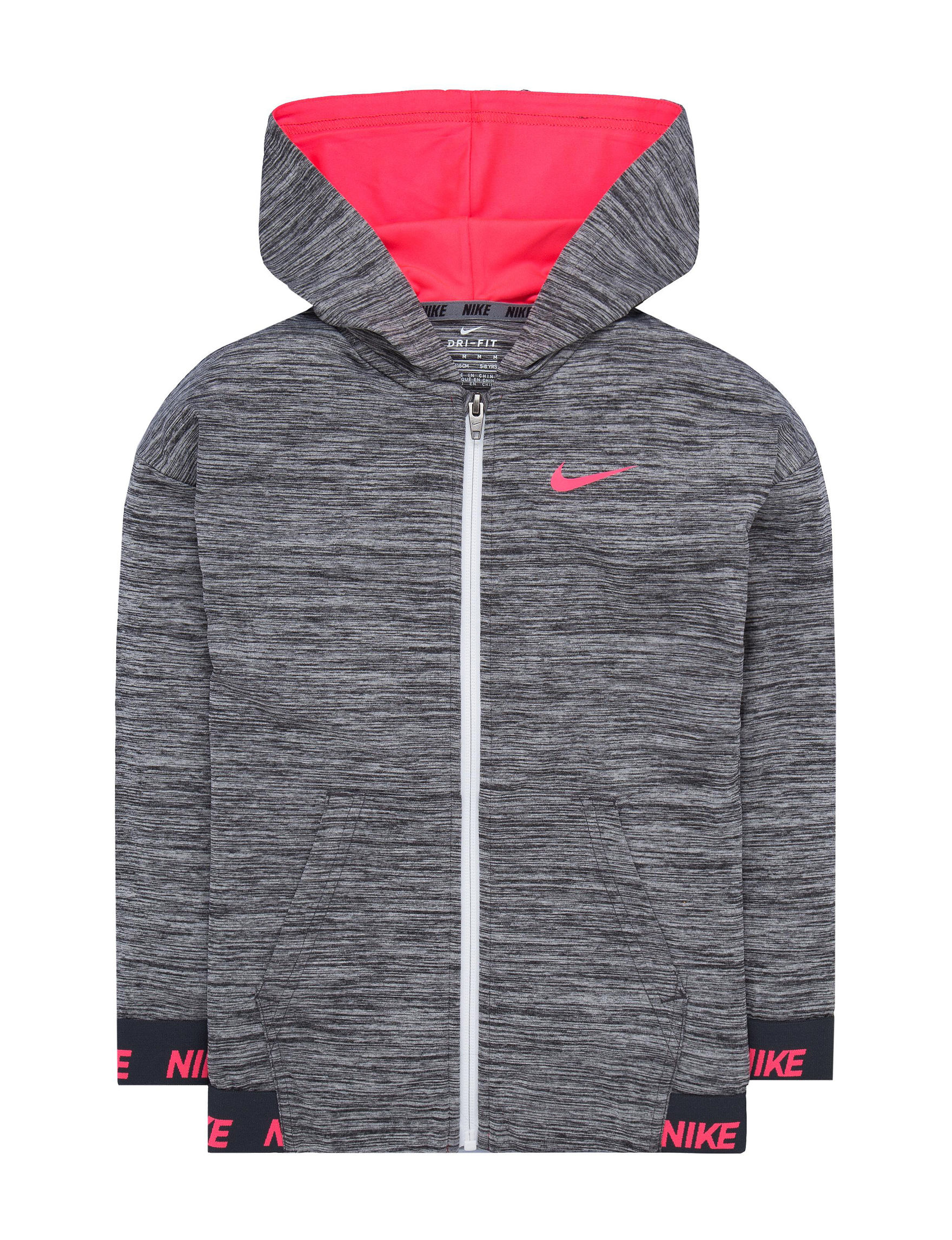 Nike Grey Fleece & Soft Shell Jackets
