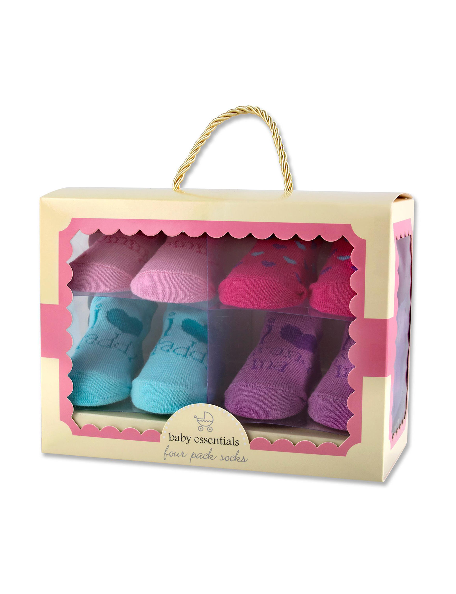 Baby Essentials 4 Pk I Love Heart Boxed Sock Set Girls Stage Stores
