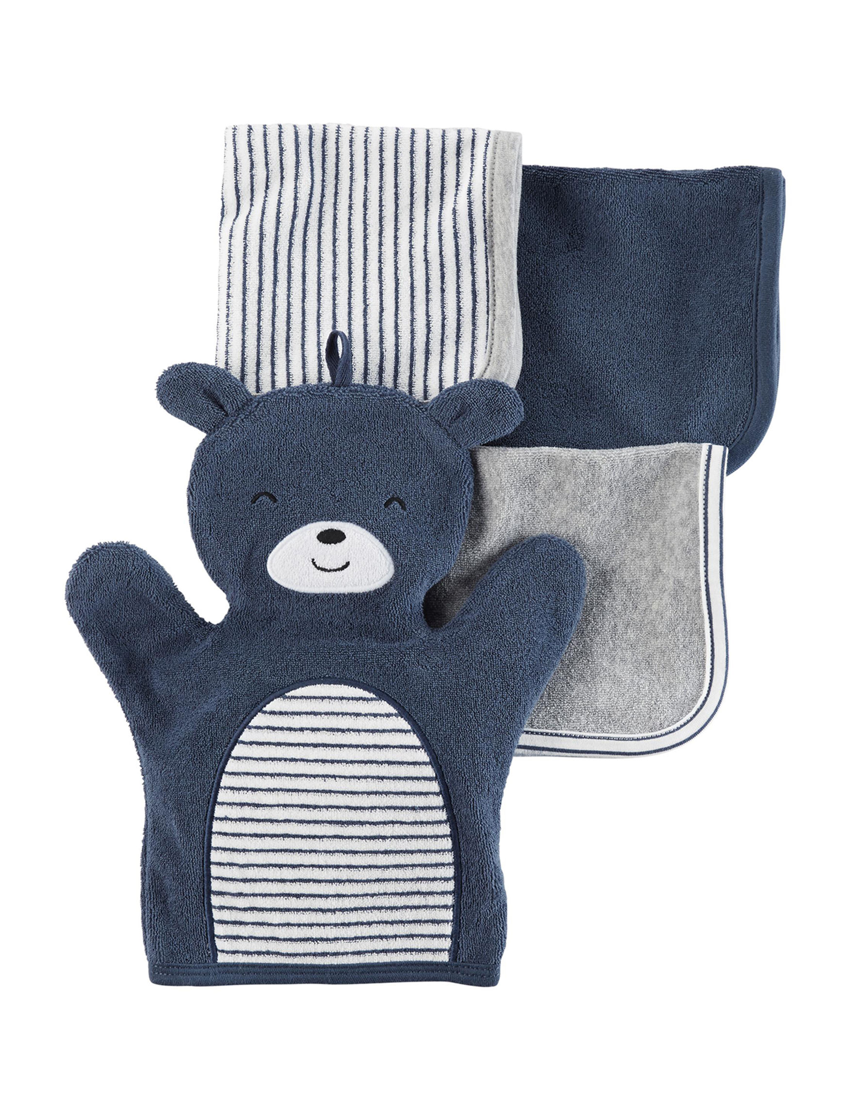 Carter's Blue Washcloths