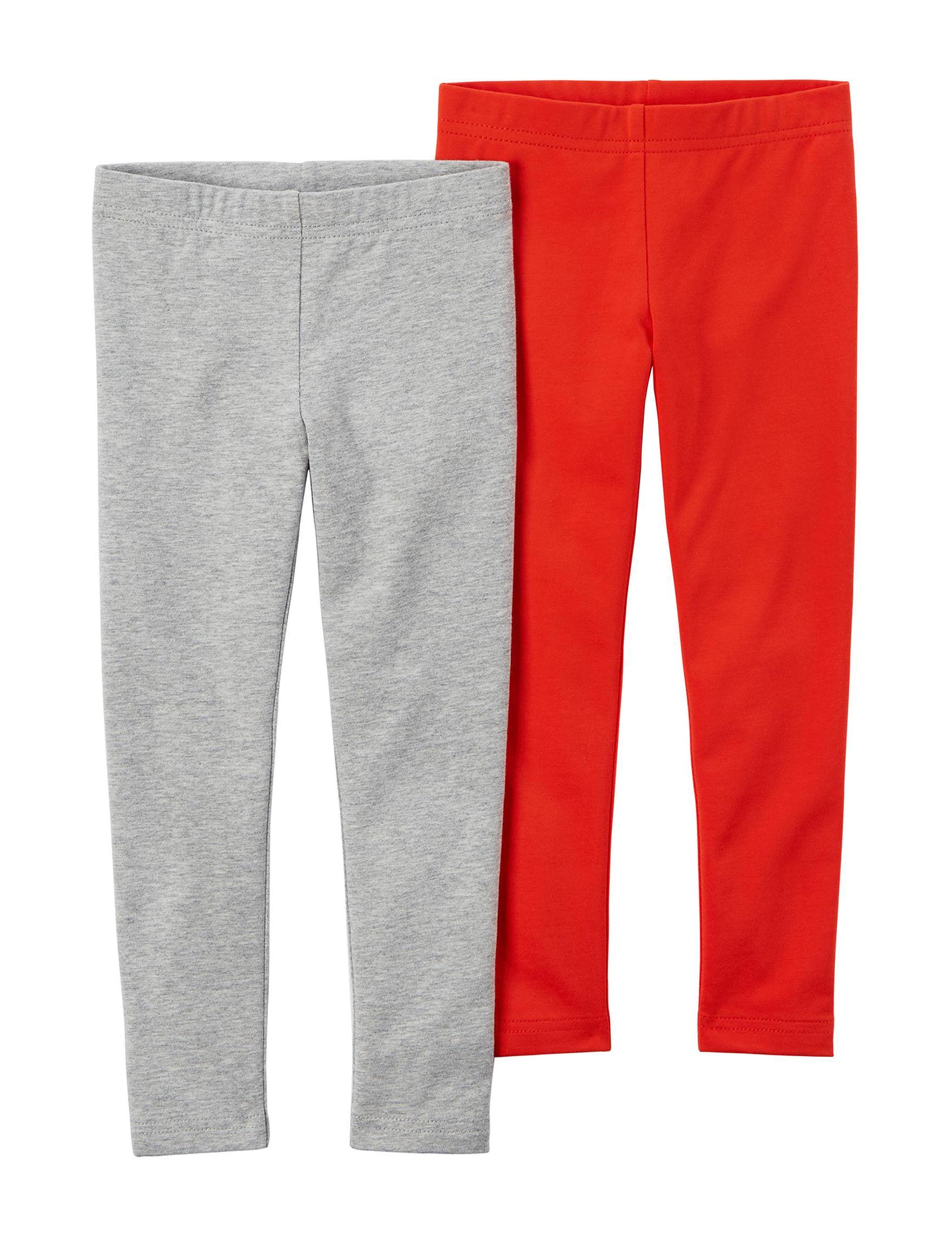 Carter's Red / Grey Leggings