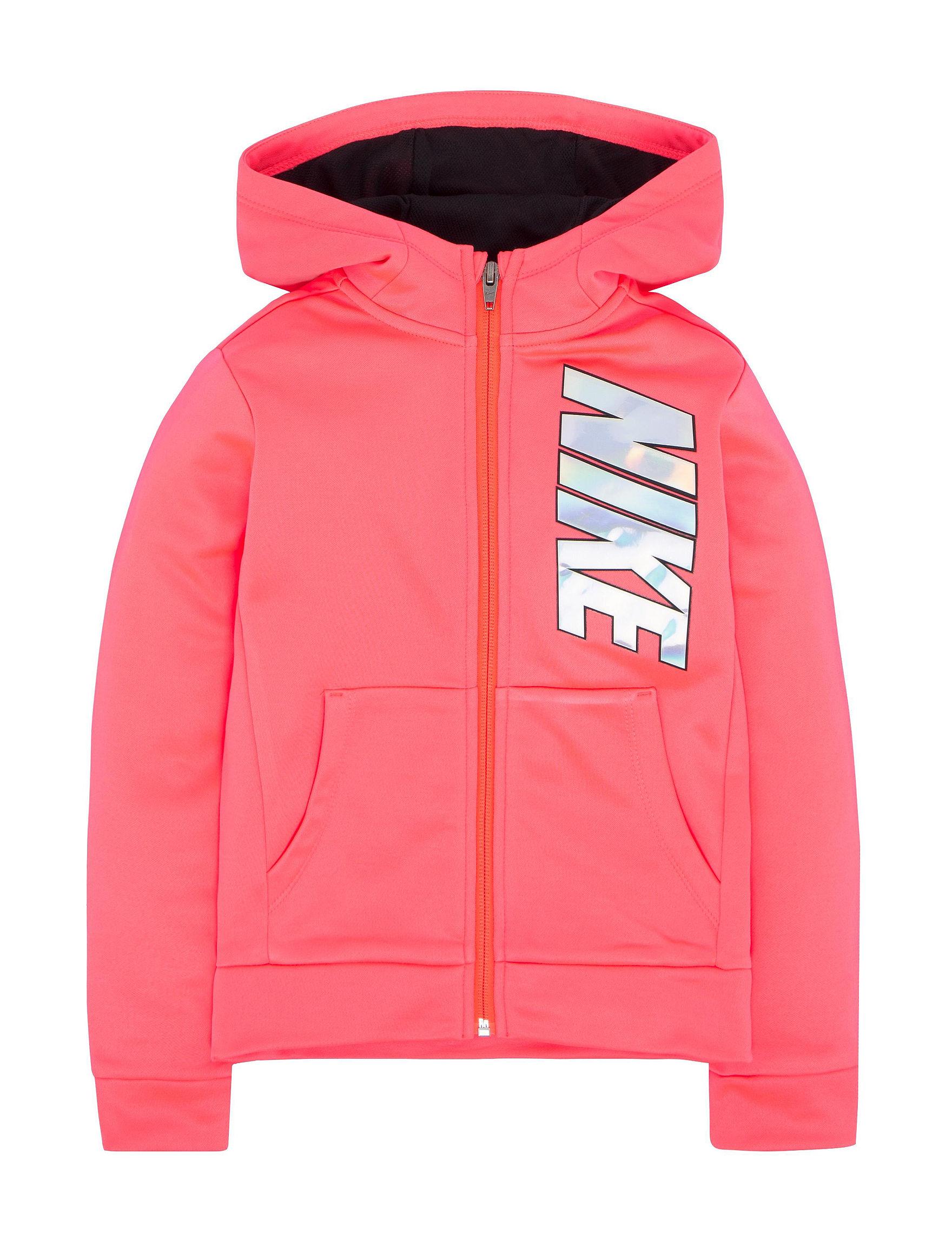 Nike Pink Fleece & Soft Shell Jackets