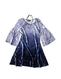 My Michelle  Dip Dye Velvet Dress - Girls 7-16