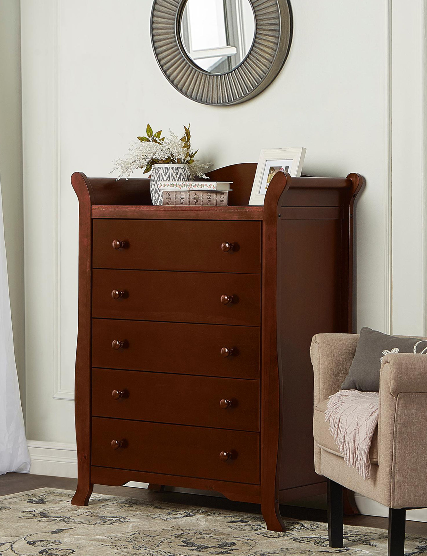 Dream On Me Espresso Dressers & Chests Bedroom Furniture