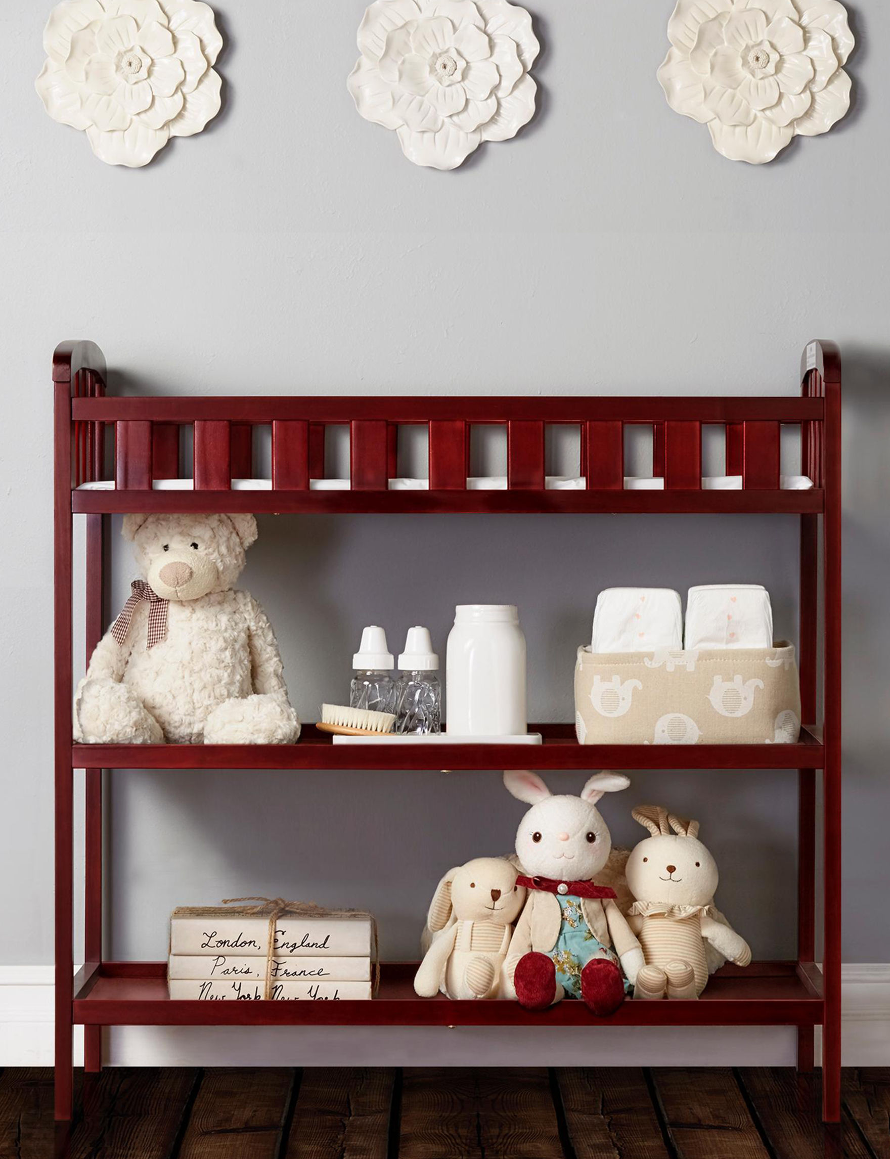 Dream On Me Cherry Changing Tables Bedroom Furniture